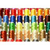 PREMIUM 50 Cones (1100 Yards Each) of Polyester Embroidery Threads for for Brother Babylock Janome Singer Pfaff Husqvarna Bernina Machines From Threadnanny