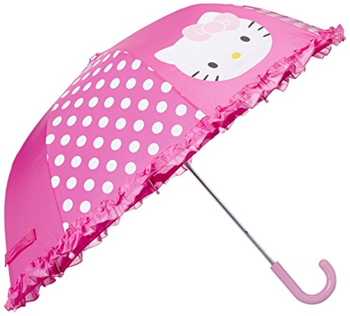 Western Chief Little Girls' Hello Kitty Cutie Dot Umbrella, Pink, One Size front-878502