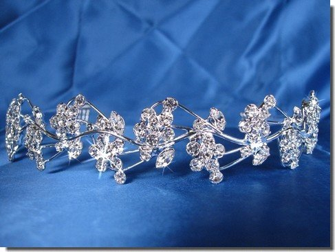 Bridal Wedding Tiara Crown With Flower Wreath 26086