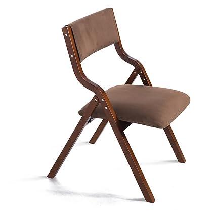 silla plegable Silla de madera maciza plegable Silla moderna de oficina moderna Silla de comedor Silla de escritorio Silla de silla de ordenador silla plegable cocina