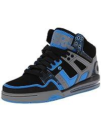Osiris Rucker Black Blue Hi Top Mens Skate Trainers Shoes Boots
