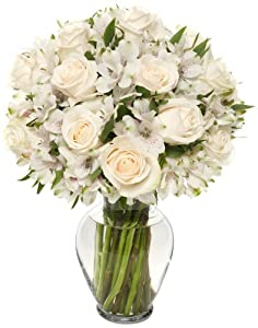 22 Long Stem Elegance Rose Alstro Bouquet - With Vase