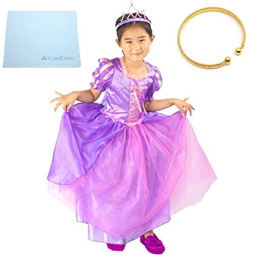 塔の上のラプンツェル子供用ドレス4点セット (95~110cm サイズS)