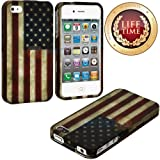 "myLife (TM) Rustic American Flag Series (Piece Snap On) Hardshell Plates Case for the iPhone 4/4S (4G) 4th Generation Touch Phone (Clip Fitted Front and Back Solid Cover Case + Rubberized Tough Armor Skin + Lifetime Warranty + Sealed Inside myLife Authorized Packaging) ""ADDITIONAL DETAILS: This piece clip case has a gloss surface and smooth texture that maximizes the stylish appeal of your iP at Amazon.com"