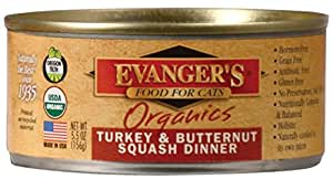 Evanger's Organic Turkey & Butternut Squash Dinner Canned Cat Food (5.5 oz. (24 in case))