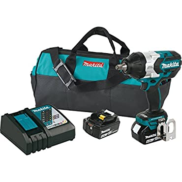 Makita XWT08M 18V Cordless 0.5 Impact Wrench Kit with Batteries and Charger