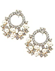 8 Republic London Mother's Day Special Dimonte Pearl Stud Earrings For Women