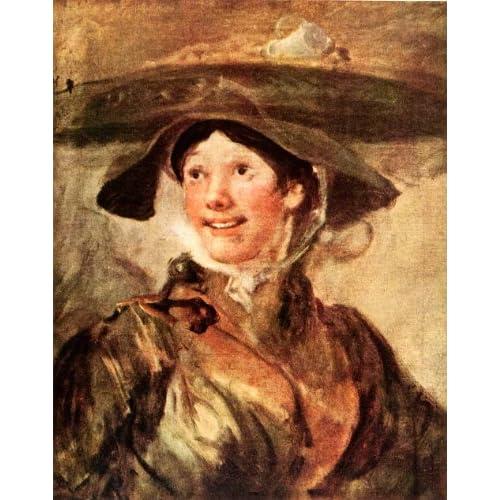 Amazon.com: 1939 Tipped-In Print William Hogarth Shrimp Girl Portrait