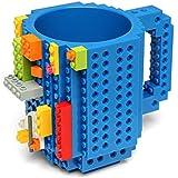 AuroTrends® DIY Build-on Brick Mug - Have Fun with Your Coffee Mug-350ml (Celeste)