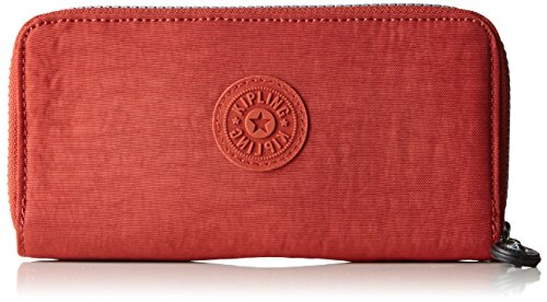 Kipling Uzario, Portafogli Donna, Rosso (78G Red Rust), 10x18.5x3.5 cm