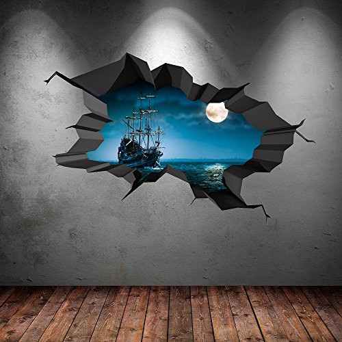 Bring the ocean indoors with nautical 3d wall decals for 3d mural wall art