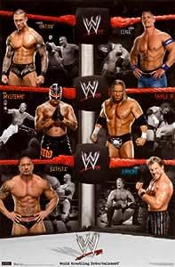 (22x34) WWE (Randy Orton, John Cena, Triple H, Chris Jericho, Batista, Rey Mysterio) Sports Poster Prin