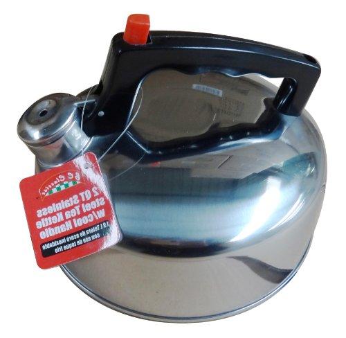 Bc Classics  Stainless Steel Whistling Tea Kettle, 2-Quart