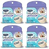 NEW Schick 100% Genuine Intuition Pure Nourishment Razor Refill Coconut milk and almond oil Cartridge 12 Blade