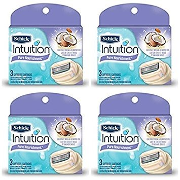 new-schick-100-genuine-intuition-pure-nourishment-razor-refill-coconut-milk-and-almond-oil-cartridge