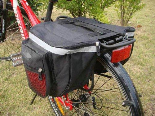Water & Wood Outdoor Waterproof 18L Bicycle Cycling Bike Big Rear Seat Bag Pannier Racks Red