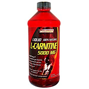 Earth's Creation Liquid L-Carnitine 5000MG & Vitamin B5 - Maximum Endurance - 16 oz Orange Flavor