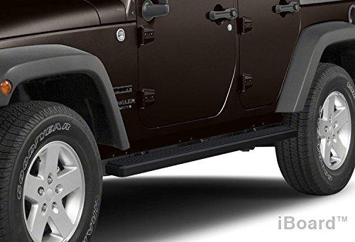 """Matte Black Iboard 4"""" Wide Running Boards Fit 07-14 Jeep Wrangler 4 Door Ib-J4107B"""