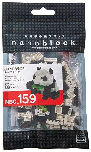 Kawada NBC159 Nanoblock Giant Panda Renewal Building Kit