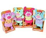 Sing-A-Ma-Jigs Set of 4 Plush Doll Figures Mint Green, Purple, Hot Pink, Blue