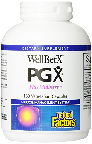 Natural Factors - Wellbetx PGX Plus Mulberry, Blocks Carbohydrate Absorption, 180 Vegetarian Capsules