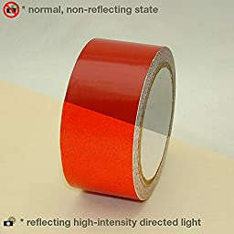 JVCC REF-7 Engineering Grade Reflective Tape: 2 in. x 30 ft. (Red)