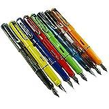 8 PCS Jinhao 599 Fountain Pens Diversity Set Transparent and Unique Style)
