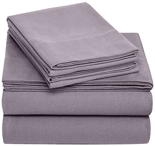 Pinzon Flannel Sheet Set - Twin XL, Graphite (Flannel Sheets Twin Xl compare prices)