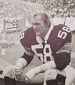 Jack Lambert Pittsburgh Steelers Signed 34x38 inch Canvas Print JSA W532241 -... by Sports Memorabilia