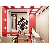 Wall Window Decal Sticker Barber Shop Man Salon Haircut Beard Face Tools Logo Salon 920b