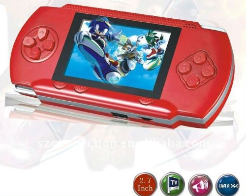 "Read About WolVol DARK RED 2.8"" LCD Portable Game Console With AV-Out And TONS of Built-In Game..."