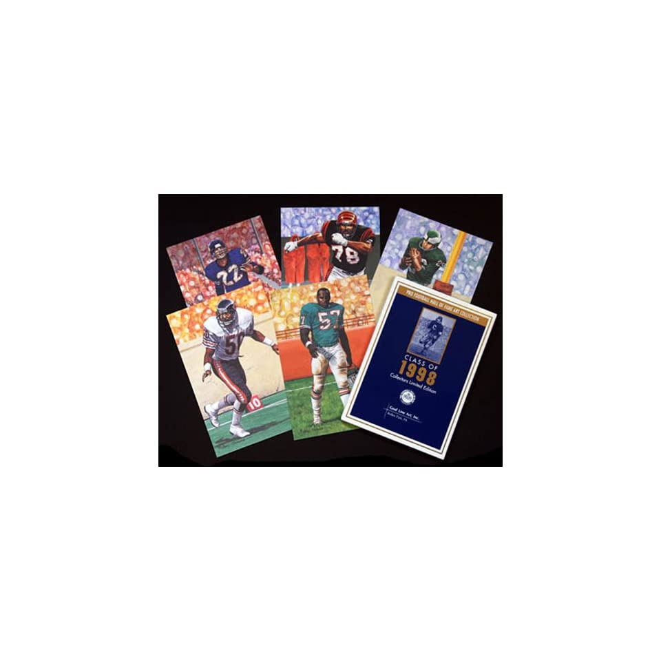 NFL Pro Football Hall of Fame Goal Line Art Cards Class of 1998