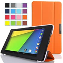 MoKo Ultra Slim Lightweight Smart-shell for Google Nexus 7 2013 Tablet, Orange - 並行輸入品