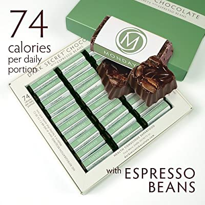 DARK SECRET chocolate with Espresso Beans - 30 Day Box