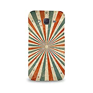 Mikzy Green And Red Line Pattern Printed Designer Back Cover Case for Samsung J5