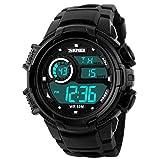 Picture Of Panegy Outdoor Waterproof Boys Girls Cool Sport Digital Alarm Stopwatch Chronograph Wrist Watch Gift Display – Black
