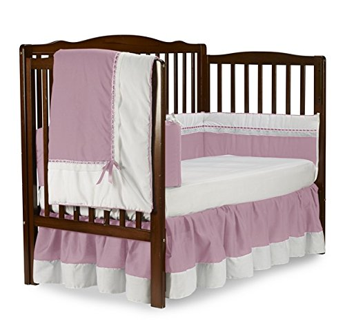 Baby Doll Royal Crib Bedding Set, Pink