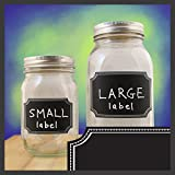 Unique Chalkboard Labels - 24 Chalk Stickers In 2 Sizes With Designer Border. As seen on ABC, CBS, NBC, and FOX.