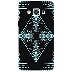 Black & Blue Design - Mobile Back Case Cover For Samsung Galaxy J3 Pro