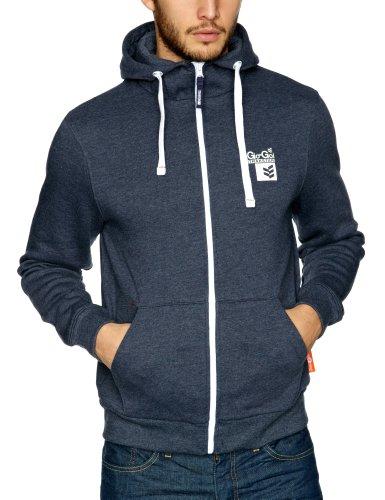 Gio Goi Ripster Men's Sweatshirt Real Navy Marl Small