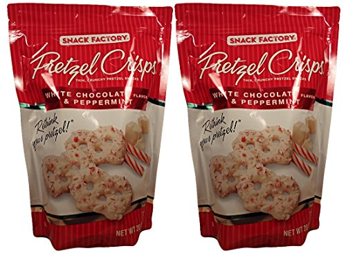 Snack Factory White Chocolate and Peppermint Pretzel Crisps 2-Pack (Pretzels White Chocolate compare prices)
