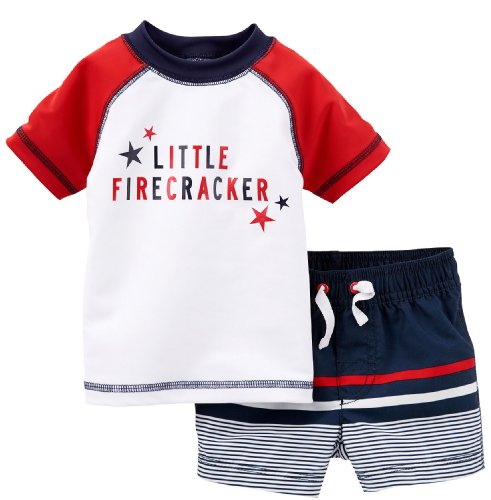 May The Fourth Be With You Baby Clothes: Carter's 2 Piece 4th Of July Swim Set (Baby)