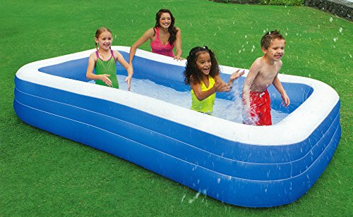 Intex swim center family inflatable pool 120 x 72 x 22 for ages 6 home garden spa spa for Intex swim center family pool cover