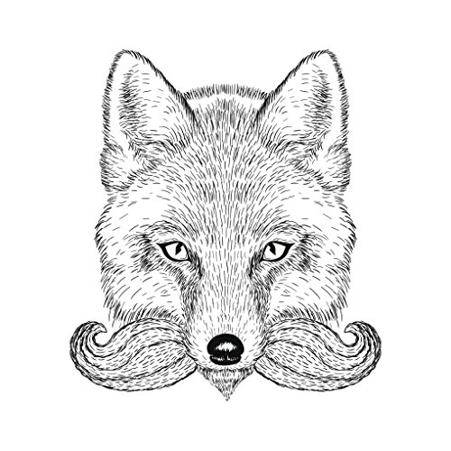 hipster-pencil-sketch-fox-with-mustache-vinyl-decal-sticker-12-tall