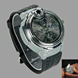 HJX Novelty real watch Collectable Butane Cigarette Cigar Lighter + Gift 1pcs Insect Mosquito Repellent Wrist Bands bracelet
