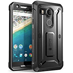 Nexus 5X Case, SUPCASE [Heavy Duty] Belt Clip Holster Case for Google Nexus 5X (2015 Release) [Unicorn Beetle PRO Series] Full-body Rugged Hybrid Protective Cover with Screen Protector (Black/Black)