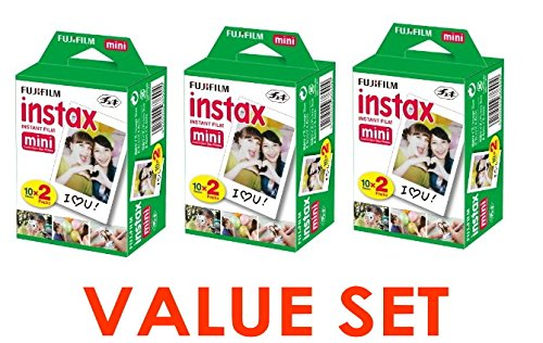 Cheapest Price! Fujifilm Instax Mini Instant Film, 2 x 10 Shoots x 3Pack (Total 60 Shoots) Value Set...