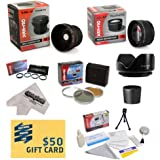 Canon Powershot S5 IS S3 IS Ultimate 15 Piece Lens Kit - Package Includes 0.20X Super Wide Angle Fisheye Lens 5 PC Close-Up Set (+1 +2 +4 With 10X Macro Lens) 2.2x HD AF Telephoto Lens + 3 Piece Pro Filter Kit (UV CPL FLD) + Tube Adapter + Flower Hood + D