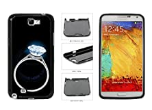 buy Glowing Diamond Ring In The Dark Plastic Phone Case Back Cover For Samsung Galaxy Note Ii 2 N7100 Comes With Security Tag And Myphone Designs(Tm) Cleaning Cloth