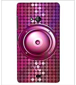 PrintDhaba Speaker D-3845 Back Case Cover for MICROSOFT LUMIA 540 (Multi-Coloured)